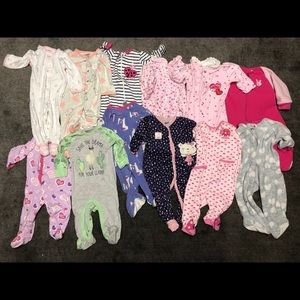 SOLD: 6 - 9 Months Pajama Bundle - 12 in total!